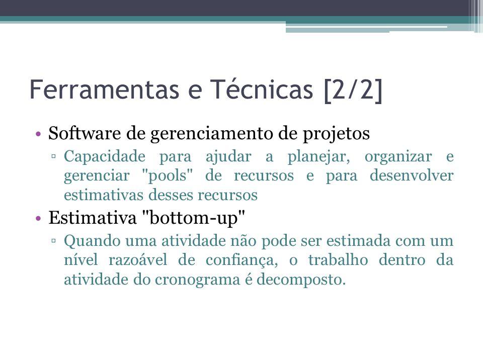 Ferramentas e Técnicas [2/2]